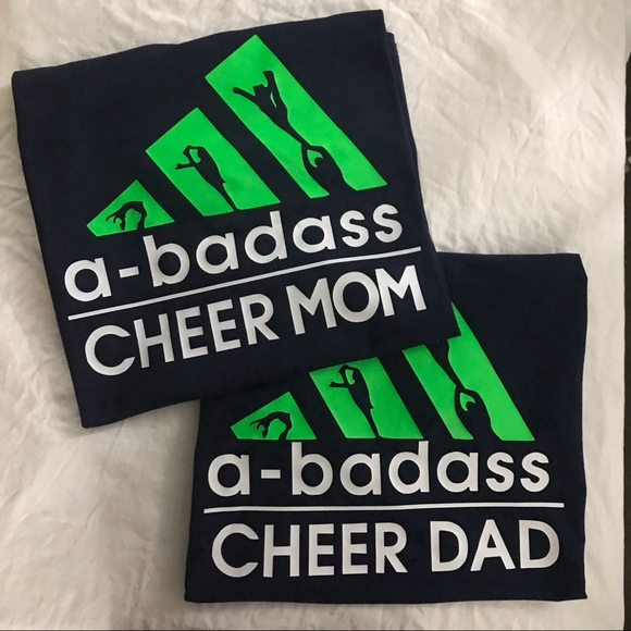 Tops - A-Badass Cheer Mom & Dad Set of Graphic t-shirts